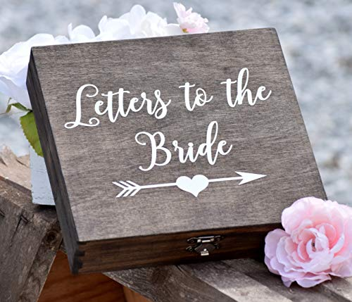 DW Letters to the Bride Box - Bridal Box - Gifts for the Bride - Anniversary Box - Love Letter Box - Keepsake Box - Grooms Gift - Engraved Box ()