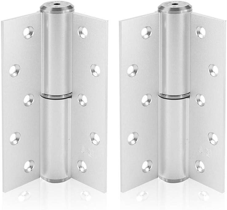 Bisagra hidráulica de 5 pulgadas Puerta en forma de H Mute Buffer hidráulico Automático Abierta derecha Bisagra de cierre de la puerta Más cerca Arena Plata