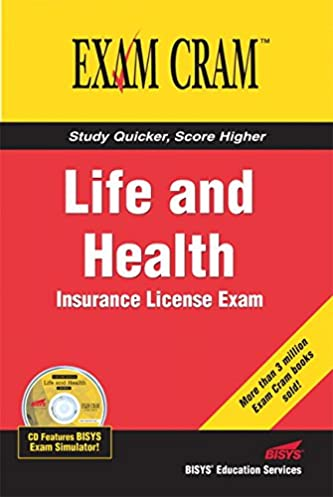 life and health insurance license exam cram bisys educational rh amazon com Insurance Courses Licensed Insurance Agent