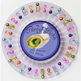 Disposable Party Picks with Ready to Serve Tray-30 Picks, Gem Light