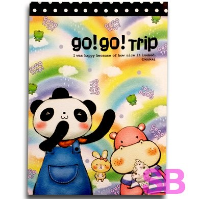 cute kawaii stationery a6 memo paper 120 sheets go go trip buy