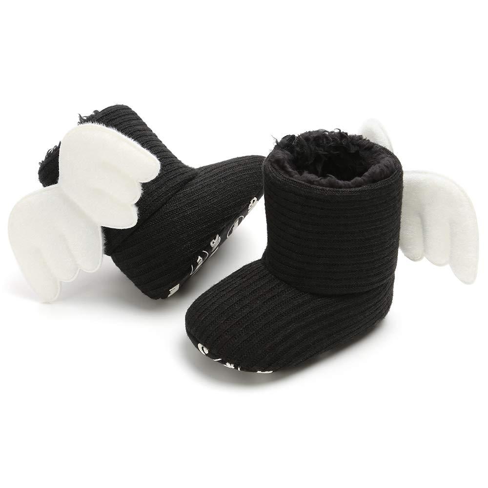 Baby Girls Boys Cute Bowknot Booties Soft Sole Anti-Slip Warm Winter Infant Prewalker Toddler Snow Boots