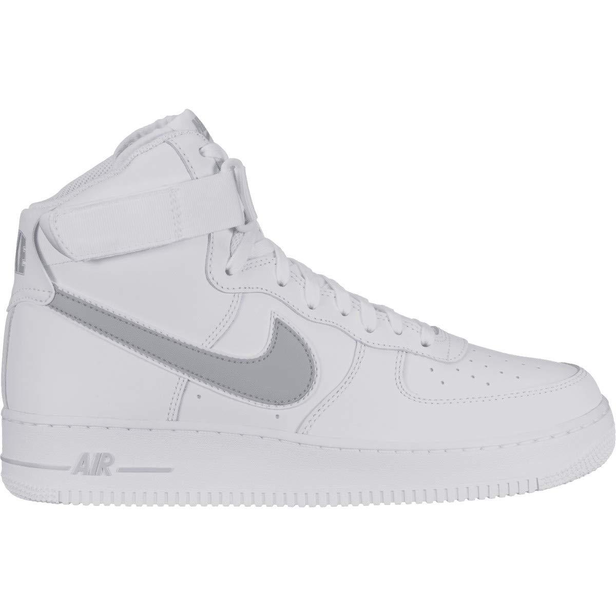 Nike Herren Air Force 1 High '07 3 Basketball Turnschuhe, Weiß Wolf grau