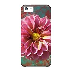 5c Scratch-proof Protection Case Cover For Iphone/ Hot Mosaic Flower Phone Case