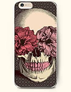 OOFIT iPhone 6 Case ( 4.7 Inches ) - Skull with Flowers in Eyes