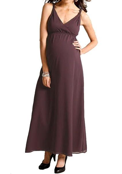 9 meses de mujer vestido gasa de embarazo vestido púrpura morado 38