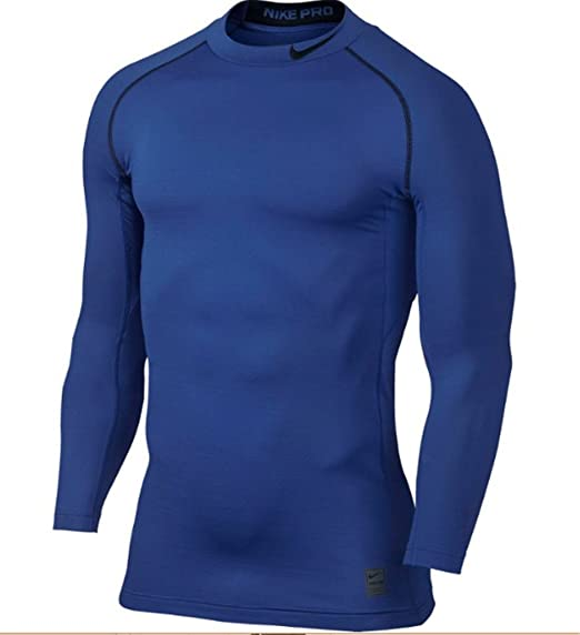 56ef7a6133 Image Unavailable. Image not available for. Color  Nike Pro Combat  Hyperwarm Compression Dri-FIT Max Mock Long Sleeve ...