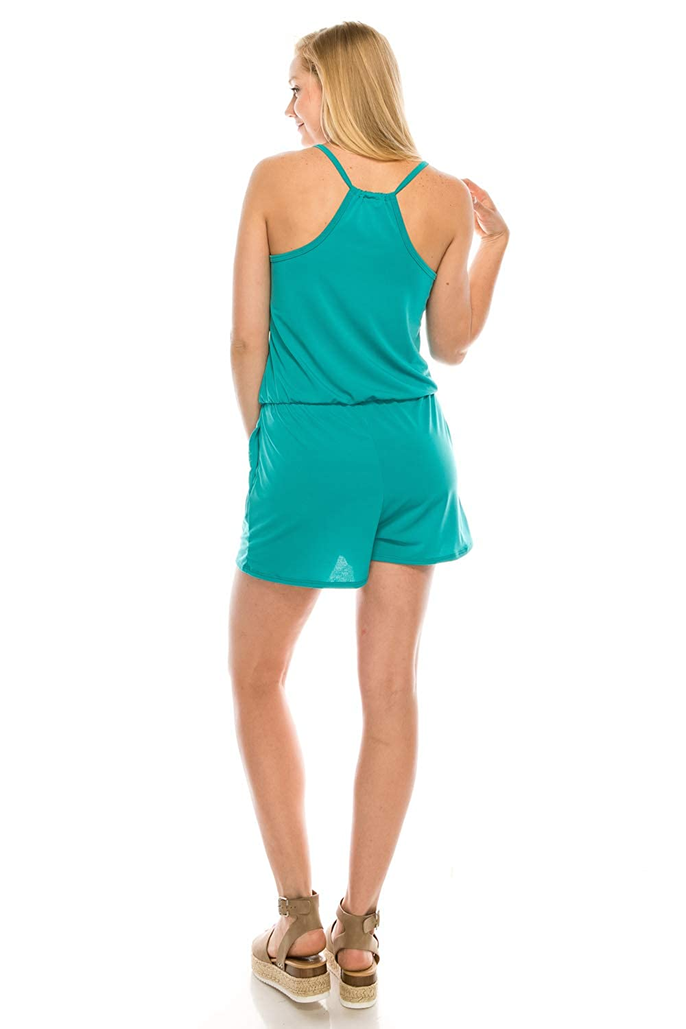 URBAN K Womens Plus and Regular Size Racer Back Jumpsuits and Rompers