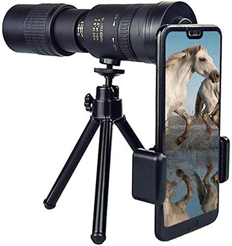 Yibaision 4K 10-300X40mm Super Telephoto Zoom Monocular Telescope, Waterproof Monocular for Hunting Hiking Camping