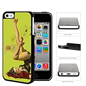 Pin-Up Girl Radio Dancing Hard Plastic Snap On Cell Phone Case Apple iPhone 5c