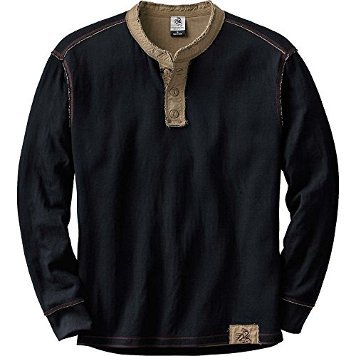 Legendary Whitetails Men's Fully Charged Black Henley Black Small