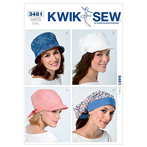 (Kwik Sew K3481 Hats Sewing Pattern, Size S-M-L)