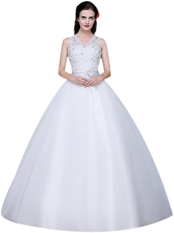 Eyekepper Double Shoulder Floor Length Prom Bridal Wedding Dress
