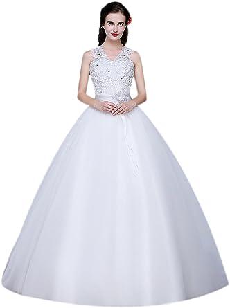 e5481eccb679 Eyekepper Double Shoulder Floor Length Prom Bridal Wedding Dresses 2 at  Amazon Women's Clothing store:
