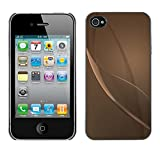 LASTONE PHONE CASE / Slim Protector Hard Shell Cover Case for Apple Iphone 4 / 4S / Cool Grey Beige Bronze Reflective Abstract