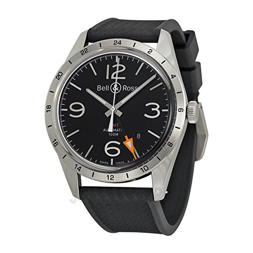 Bell-and-Ross-Vintage-Black-Dial-Black-Rubber-Mens-Watch-BRV123-BL-GMT-SRB