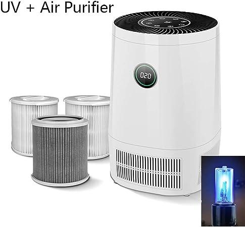 OJKYK Purificador De Aire con Lámpara Germicida UV Y Filtro HEPA Y ...