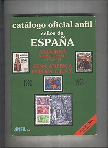 Catalogo oficial anfil sellos de España 1992-93: Amazon.es: Varios ...