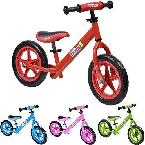 🥇 boppi® Bicicleta sin Pedales de Metal para niños de 2-5 años – Roja