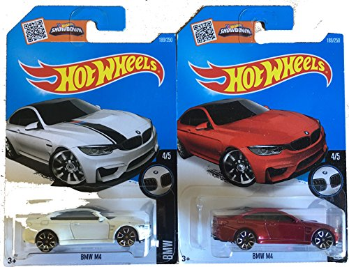 Hot Wheels HW BMW BMW M4 White and Red 2-Car Variant Set Bun