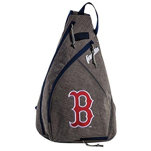 Franklin Sports Boston Red Sox Slingback Baseball Crossbody Bag - Shoulder Bag w/Embroidered Logos - MLB Official Licensed Product