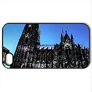 cologne_cathedral - Case Cover for iPhone 4 and 4s (Religious Series, Watercolor style, Black)
