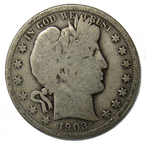 1903 O Silver Barber Half Dollar 50c Very Good