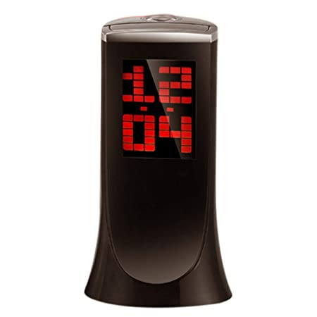 Despertador Proyector, Reloj despertador de proyección electrónico multifunción con temperatura Reloj despertador reloj silencioso con alarma para ...