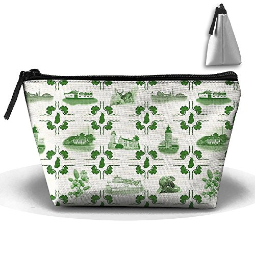 - Beaver Island Tiles Travel Bag Makeup Bag Storage Toiletries Cords And Chargers Zipper Pouch Bag