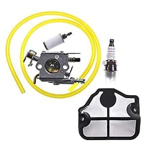 JL Jiangli Legend - Carburador con filtro de aire para la gasolina para los modelos de motosierra Husqvarna 136,137,141 y142