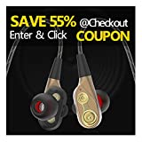 Wired In Ear Earbuds/Headphones/Earphones with Dual Drivers High-Fidelity Audio+Deep Bass with Mic for Apple ios & Android Devices from CHSMONB