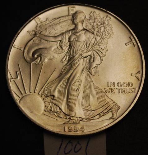 1994 us .999 silver eagle ounce oz 1 dollar coin bu unc