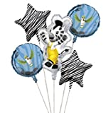 Club Pack of 12 Zoo Animals Metallic Foil Party Balloon Clusters