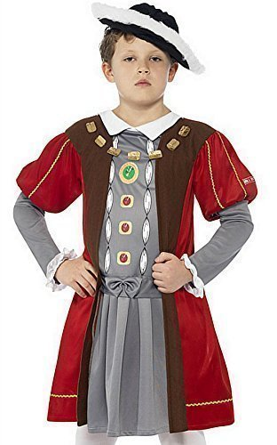 Elizabethan Age Costumes (Smiffy's Boys Henry Viii Tudor Costume - Large Age 10-12 Years)