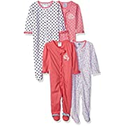 Gerber Baby Girls' 4 Pack Sleep 'n Play, Elephant/Birdie, 3-6 Months