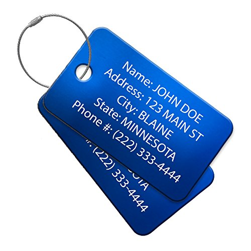 High Visibility Multi Pack Customized Travel ID Tag - Luggage Tag - Golf Bag ID - Personalized ID Travel Tag - Imprinted Luggage Tag - luggage, bikes, sport equipment and more.