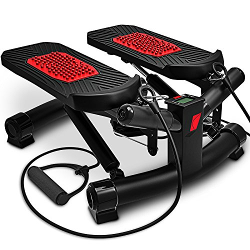 Sportstech-2in1-Twister-Stepper-with-Power-Ropes-STX300-Swing-Stepper-Sidestepper-for-beginners-advanced-users-up-down-stepper-with-multifunction-display-hometrainer-with-adjustable-resistance