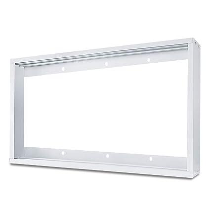 Ledmo 1x4ft Ceiling Frame Kit Aluminum Surface Mounting Bracket Kit For Led Panel Light Drop Ceiling Light Edge Lit Light White Drywall Flange