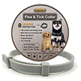 COSYWORLD Flea and Tick Collar for Dogs - 100% Natural Essential Oil Flea & Tick Prevention - Adjustable, Safe & Waterproof Flea Control Collar - 8 Months Protection