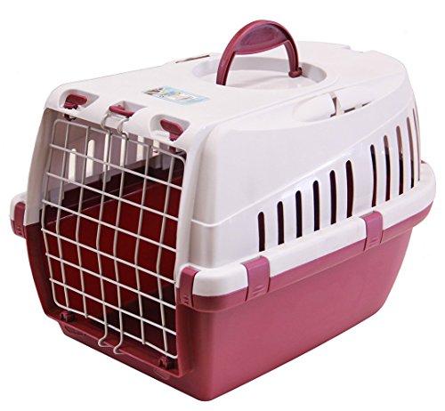 BPS (R) Transportín Rígido para Perro o Gato, Animales Domésticos, Tamaño: 49 x 33 x 30 cm. (Morado)