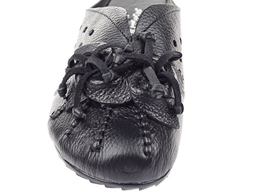 Vogstyle Women's Beach Slippers Leather Hollow Out Flat Sandals Style 5-Black MPGVl