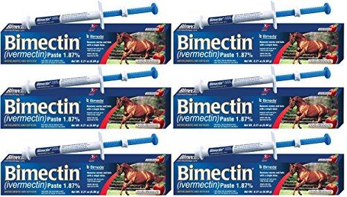 Bimectin Ivermectin Paste Horse Wormer (1.87 Ivermectin) - 6 DOSES, Model: , Home & Outdoor Store (Bimectin Paste)
