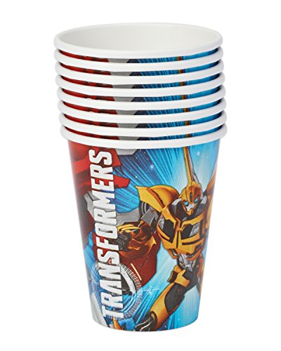 American Greetings Transformers Paper Party Cups (8 Count), 9 oz