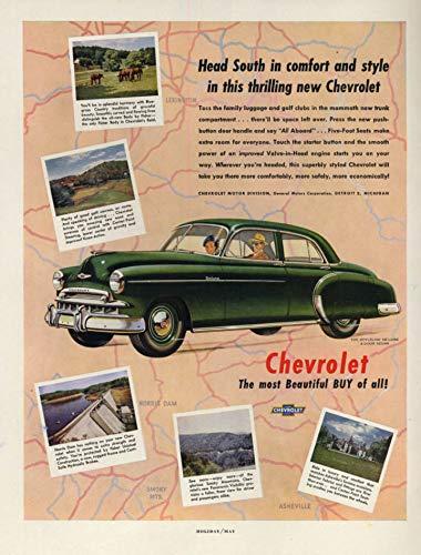 Head South in comfort & style - Chevrolet Styleline De Luxe Sedan ad 1949 H
