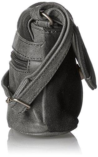 Lady Edelweiss Trachtentasche - Bolsos bandolera Mujer Negro (Anthrazit)