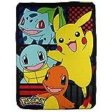 "Toys : Pokémon ""First Partners"" Fleece Throw Blanket, 45 x 60-inches"