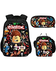 3Pcs Toddler Backpack for Boys with Lunch Bag Pencil Case Kids School Bags Student Bookbag for Girls Teens Game Fans Gifts