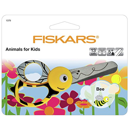 Price comparison product image Fiskars 13cm Bee Kids Animal Scissors