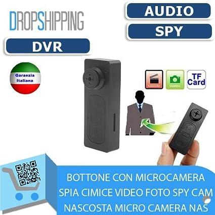 General Traders – Botón con cámara espía oculta Cimice Spy Cam Video Foto oculta Micro Camera