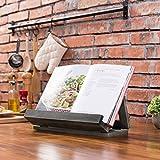 MyGift Vintage Gray Wood Folding Cookbook Holder